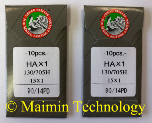 20 90/14 SHARP ORGAN TITANIUM FLAT SHANK 15X1 HAX1 HOME SEWING MACHINE NEEDLES