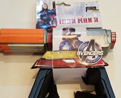 Kids Iron Patriot Costume (Marvel Iron Man Patriot Avengers Weapon Shoulder Chain Gun Costume Boy Adult)