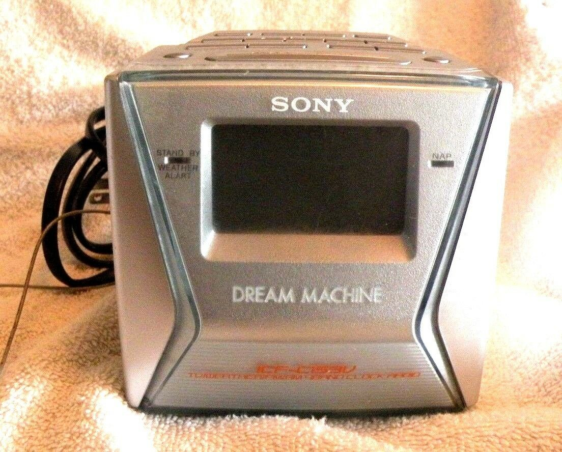 Sony Dream Machine Model ICF-C153V 4 Band AM/FM Alarm Clock Radio