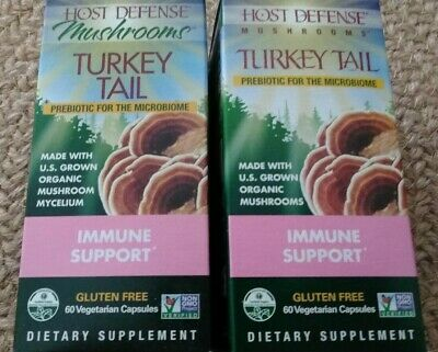 Host Defense Organic Mushrooms Turkey Tail Immune Support 120 Vcaps NEW