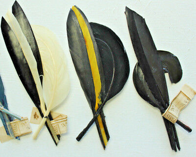 ( NOS vintage 1920s millinery hat supplies feather quill fancy trim 3416)