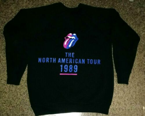 Rolling Stones OFFICIAL Steel Wheels US Concert Tour Sweatshirt - Size L