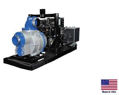 Trash Pump - Skid Mounted - Commercial - 23 Hp Diesel - 6 Ports - 59700 Gph