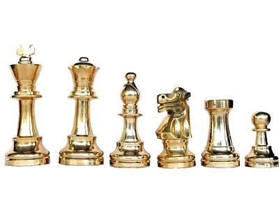 Brass staunton chess pieces set king 3.25