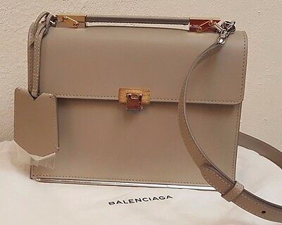 BALENCIAGA LE DIX BAG MAKE UP MAKEUP STRAP AJ in tan color NEW NWT