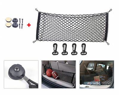1pc Black Car SUV Rear Cargo Trunk Boot Floor Net Elastic Mesh Storage Durable for sale  USA