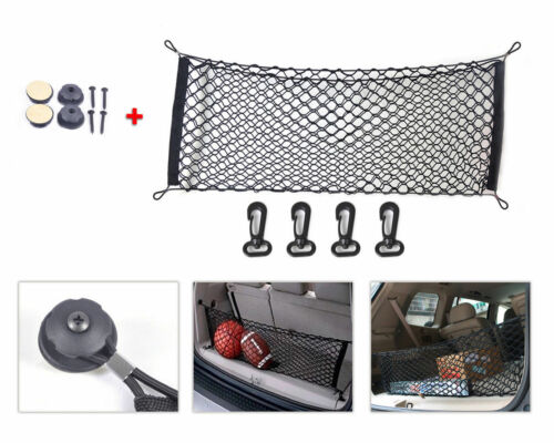 Car Parts - 1pc Black Car SUV Rear Cargo Trunk Boot Floor Net Elastic Mesh Storage Durable
