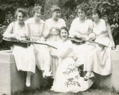 Vintage Musicians Women Guitarists Family Friends Photo Vernacular Photography
