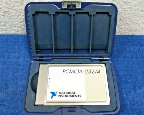 National Instruments NI PCMCIA-232/4 Serial Interface Card & Case 188387A-D1