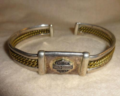 Vintage Harley Davidson Motorcycles 925 Sterling Cuff Bracelet
