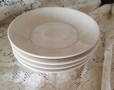 (Jars France Vuelta  Atoll White Pearl Saucers or Dipping Plates, set of 4)