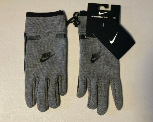 Nike Tech Gloves for Touchscreen Devices Youth 8/20 Carbon Heather Grey Black