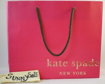Kate Spade Specialty Store Paper Shopping Gift Bag Pink Orange 10