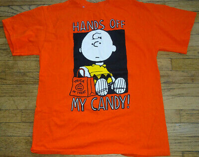 Charlie Brown Halloween Theme (Charlie Brown Halloween Candy Theme T-Shirt Size)