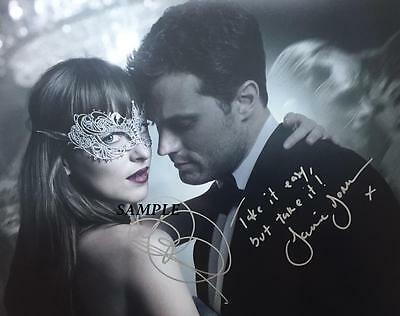 Dakota Johnson Jaime Dornan  4 Reprint Autographed 8X10 Signed Photo 50 Shades