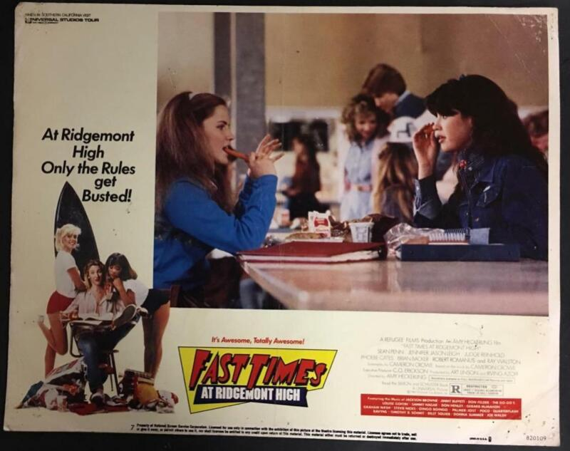Jason Leigh w/ hot dog Phoebe Cates Fast Times at Ridgemont High lobby card 195