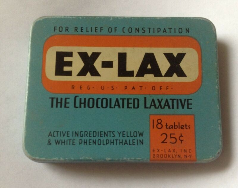 Vintage Ex-Lax The Chocolate Laxative Tin