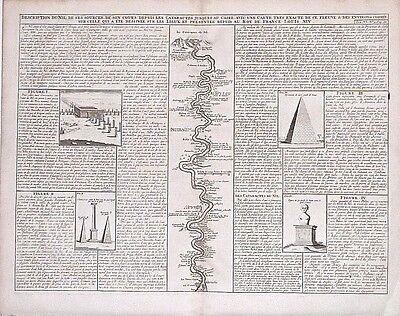 Antique map, Description du Nil