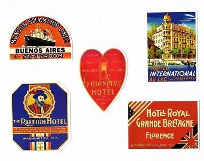 Aufkleber Sticker Set 5St Vintage Reise Travel Hotel Koffer Laptop Vinyl Set 8