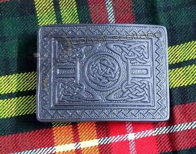 Highland Kilt Belt Buckle Swirl Celtic Jet Black Finish/Scottish Belt Buckles Highland Swirl