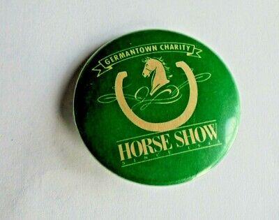 Cool Vintage Germantown Charity Horse Show TN Equestrian Souvenir Pinback