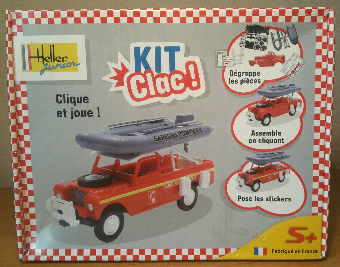 1/32 heller clic clac kit clac land rover pompiers neuf