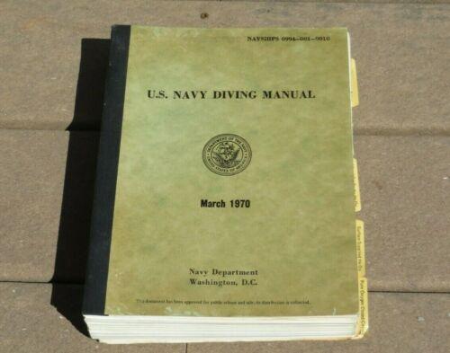 Vietnam USN US NAVY Underwater Dive Diving Manual Book