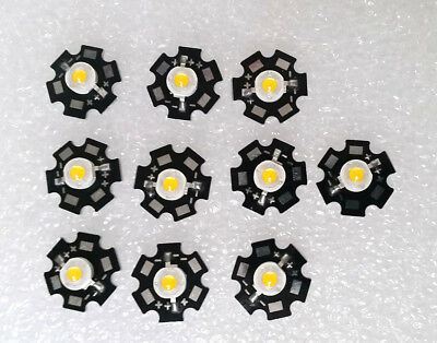 10pcs 5w Warm White 3 - 3.6v 1400ma 400-450lm Led Chip With 20mm Star Bead