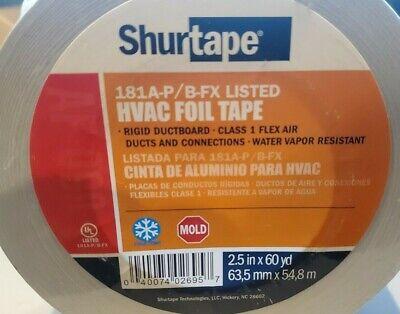Shurtape Af-100 Aluminum Hvac Foil Tape 2.5 X 60 Yd Flex Air Duct Ductboard