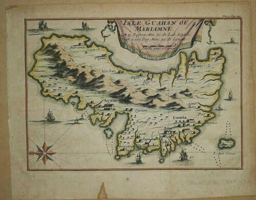 Map Mariamne Guahan iles Marianes. Islas Marianas,