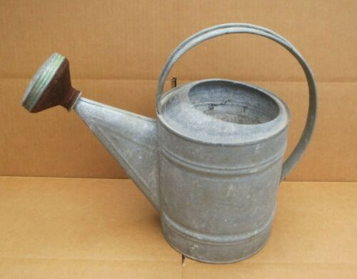 Vintage Galvanized No. 8 Watering Can with Sprinkling Head