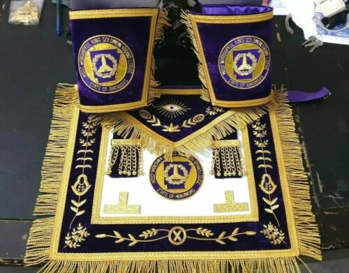 MOST WORSHIPFUL KING SOLOMON APRON AND CUFFS