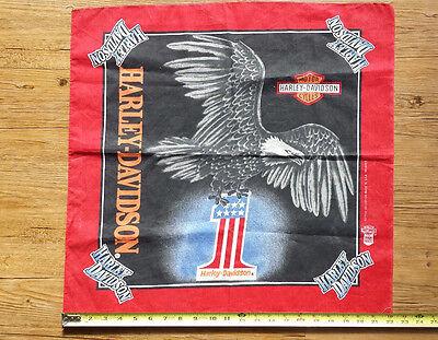 "Vintage Harley Davidson Bandana Head Scarf Eagle Wild Do Rag 22"" x 22"""