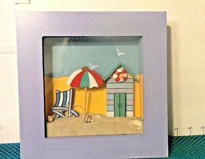 Shadow Box, Beach Theme, With Sand & Shells, Arister Gifts Inc. Collectible ()