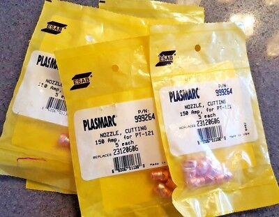 Lot25 New Esab Plasmarc Cutting Nozzles 150a For Pt-121 Part 999264 23120606