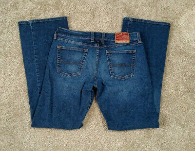 - Lucky Brand Midrise Flare Size 30 10 Bootcut Denim Blue Jeans Trousers Pants Mid