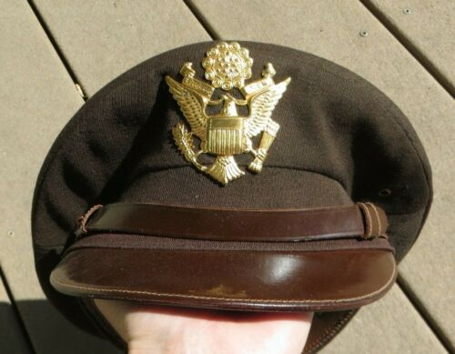 WW2 US Army Military Cavalry Officer Hat Cap Feather Weight 6 3/4