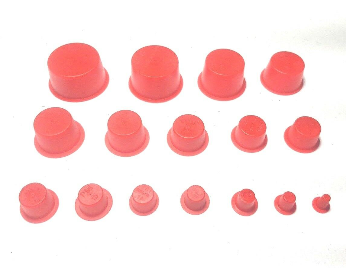 Car Parts - 160 Piece - Auto Car Parts Tapered Plugs Caplugs - 16 Sizes 0.17-1.36 Inch OD