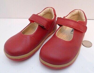 Bobux i-walk Girls Red Leather Shoe Size 23 EU Podiatrist Endorsed !!!