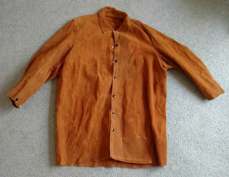 Red Ram Large Leather Welding Coat