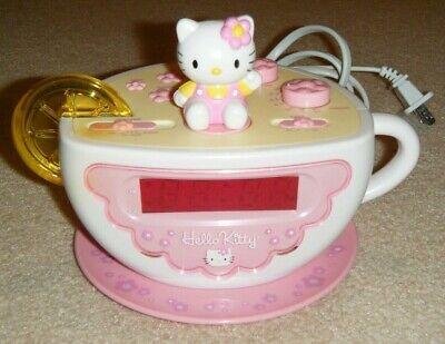Hello Kitty Teacup Digital Alarm Clock AM/FM Radio Light - Hello Kitty Light