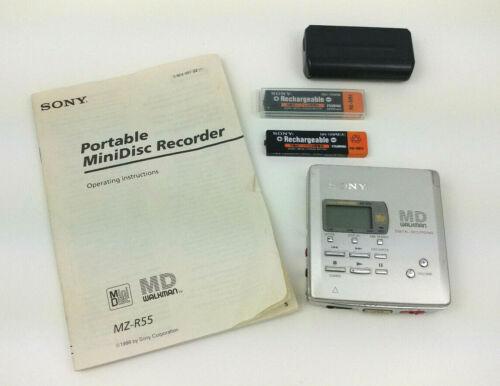 Sony MZ-R55 MiniDisc MD Walkman Player TESTED WORKS