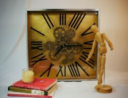 Extra Large Square Wall Clock with Glass