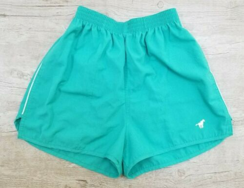 Vintage WRANGLER 70/80s Turquoise High Waisted Workout Track Shorts Womens Small