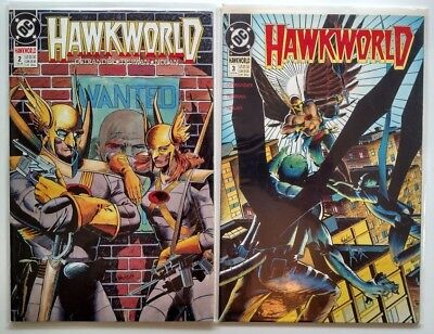 Hawkworld #2 & 3 1990 Ostrander Nolan Hawkman Hawkwoman