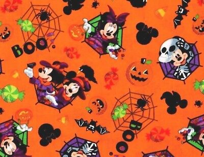 Disney Spooky Halloween (DISNEY MICKEY & MINNIE FEELIN' SPOOKY  COTTON FABRIC HALLOWEEN  BOO  BY THE YARD)