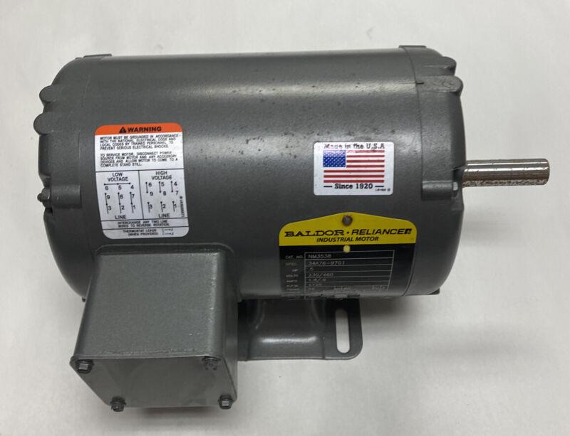 Baldor NM3538 Electric Motor 34A76-97G1 .5HP 230/460V 1725 RPM Frame 56 NOS