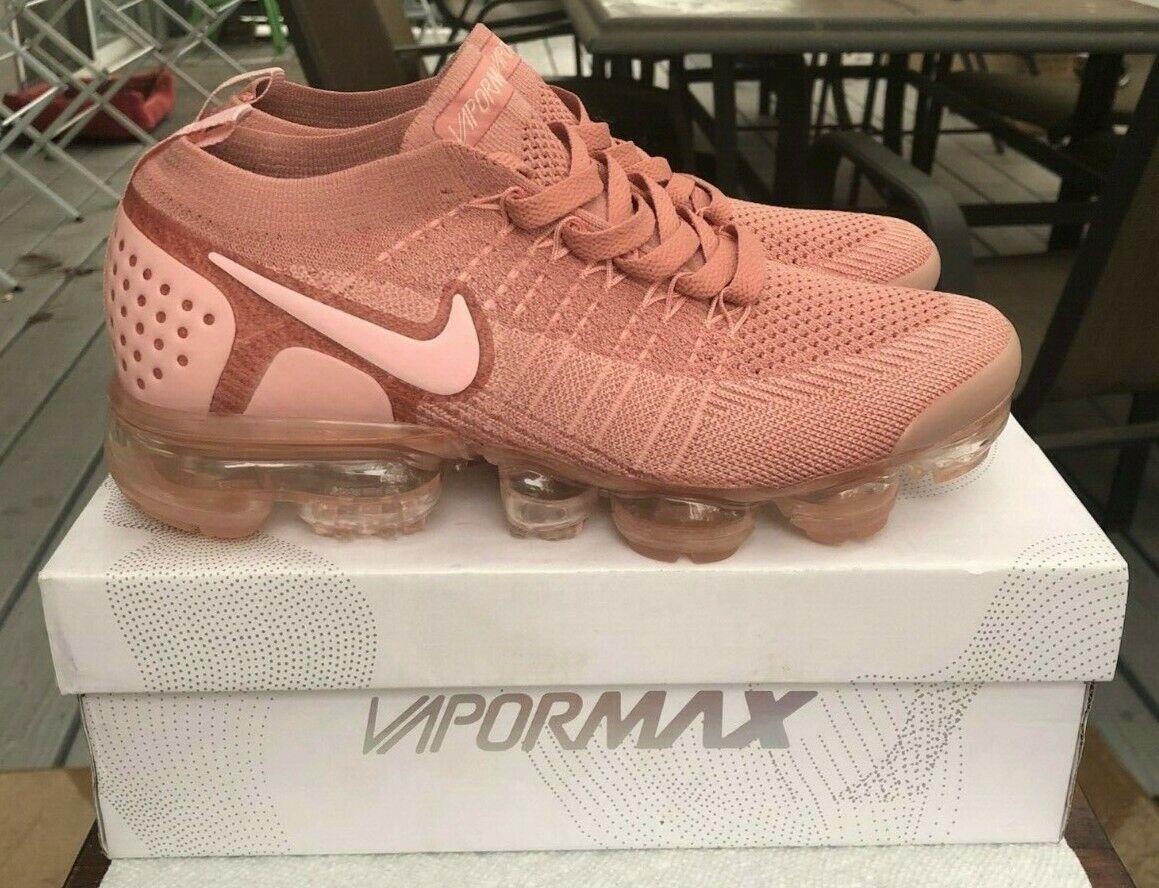 "Women's Nike Air VaporMax Flyknit 2 ""Rust Pink"" Size 8"