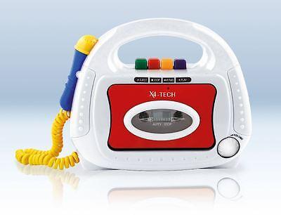 Kassettenrekorder für Kinder Kinderkassettenrecorder Mikrofon Bobby Joey Neu
