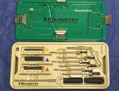 Howmedica Surgical 3910-9-020 Orthopedic Mainstay Soft Tissue System With Case